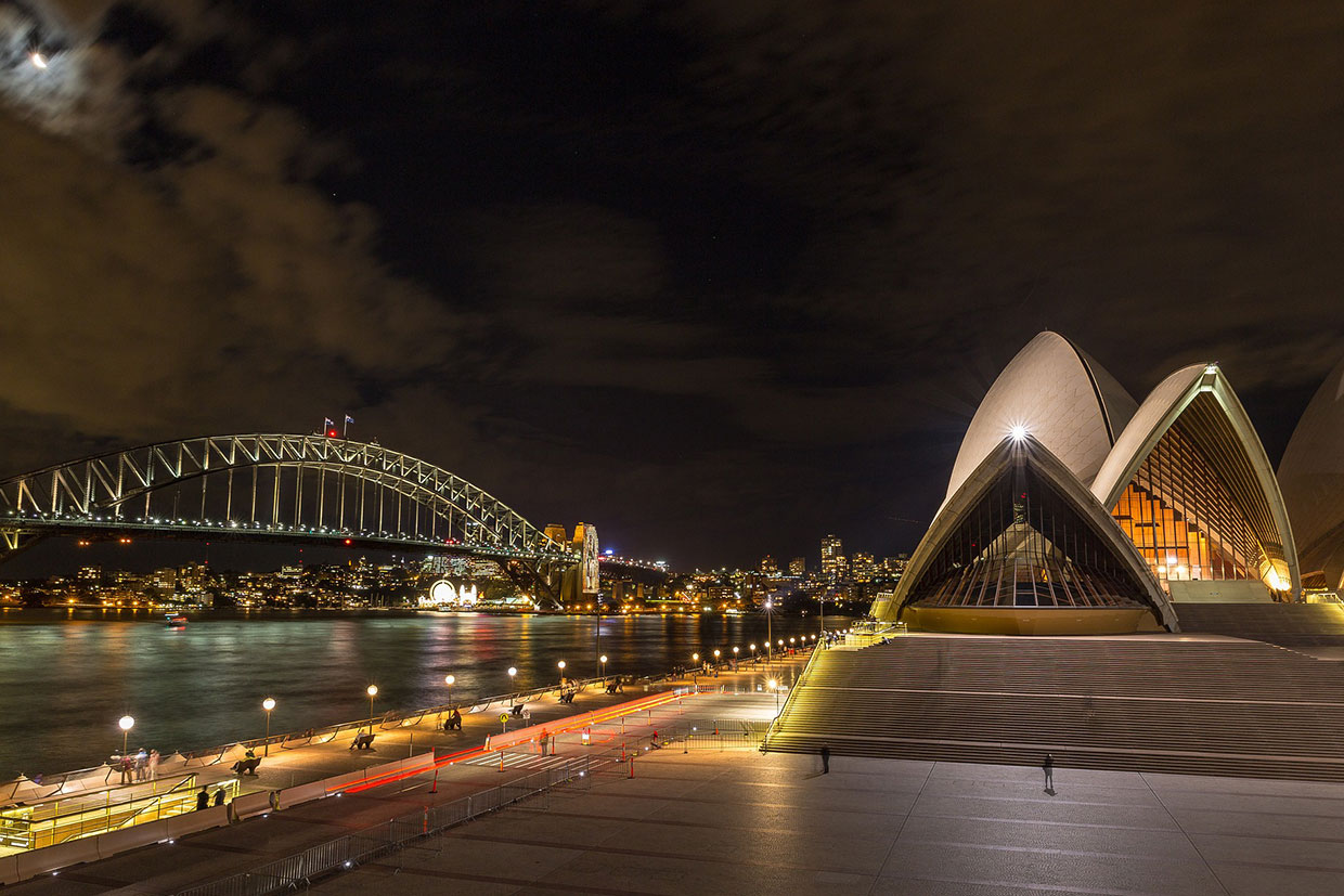 Sydney at night, Opera House | No or Low Deposit House & Land Packages | No1 Property Guide